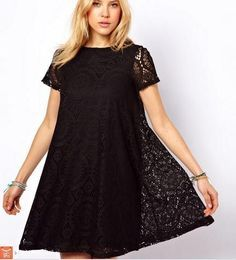Western Lace Short Dress Style Sleeves O-Neck Solid Dresses