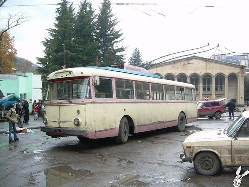 Cccp coach bus in Lithuania