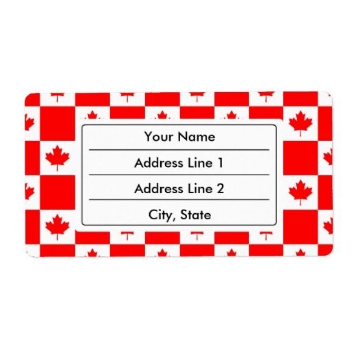 Canadian flag pattern shipping labels