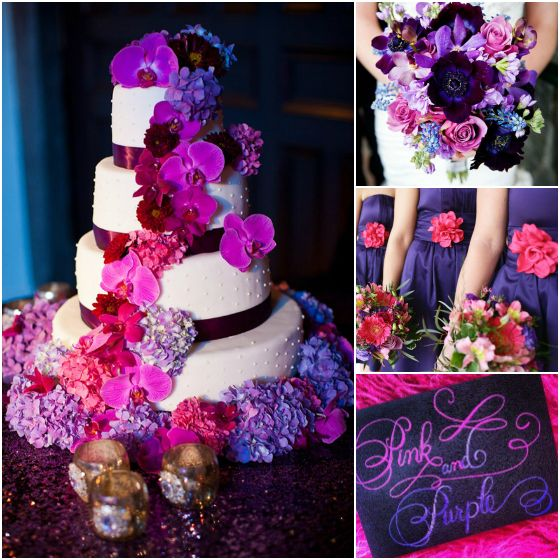 Eggplant And Red And Purple Wedding Ideas: Color Is The Most Suitable