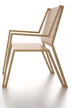Michael Samoriz's Outline Chair Displaying an Elegant Silhouette