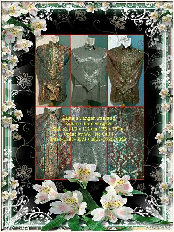Kameja Exclusive Songket Ket & Order : Lihat di foto