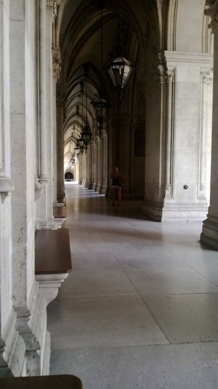 Portico of the Town Hall, Vienna.