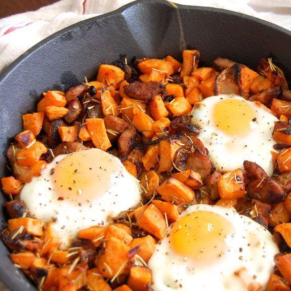 Breakfast tomorrow morning :) Sweet Potato Hash but I don't have sausage so I will use hamburger :) Mmm mmm
