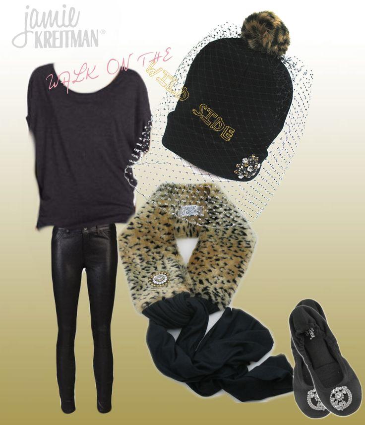 Walk on the WILD SIDE! #vintage #glam #veil #beanie #fauxfur #vegan www.jamiekreitman.com
