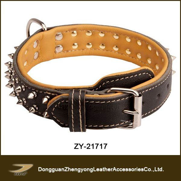 leather studded dog harness,large spiked dog collars $1.5~$4