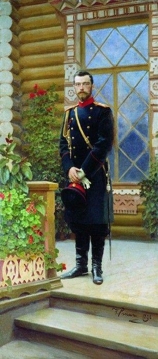 Портрет императора Николая II на крыльце. 1896. Илья Ефимович Репин