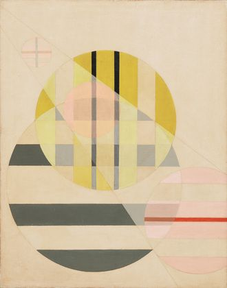 "Color scheme for our bedroom. Z II László Moholy-Nagy (American, born Hungary. 1895-1946) 1925. Oil on canvas, 37 5/8 x 29 5/8"" (95.4 x 75.1 cm)."
