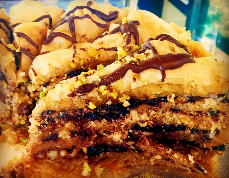 Mixed nut & chocolate Baklava Cake at Meli Baklava & Chocolate Bar 238 Queen West, Toronto