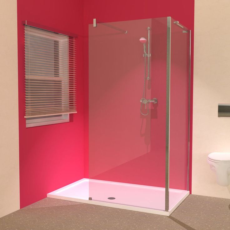Line 1600 x 900 Shower Tray with L-Shaped Walk in Shower Screens