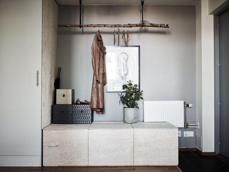 DIY gör en klädhängare av trädgren- Wrede fastighetsmäkleri