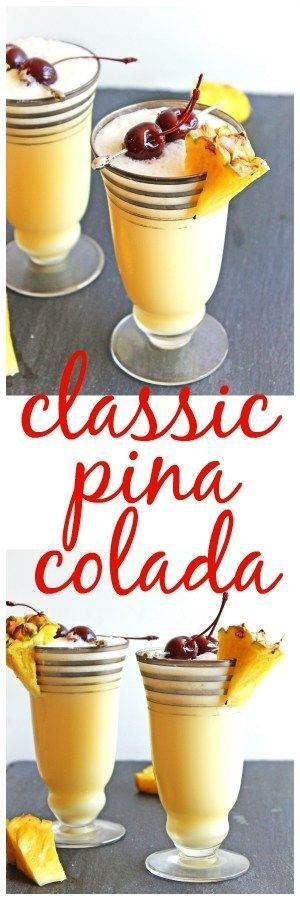THE BEST PINA COLADA RECIPE! It only takes 5 minutes and 4 ingredients to make a homemade pina colada! // Rhubarbarians. Naturally vegan. / summer cocktail /