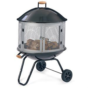 Four Seasons Courtyard Bonfire Fire Pit With Wheels ... on Ace Hardware Fire Pit id=25295