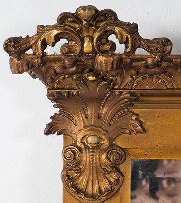 Antique Victorian Carved Gilt Wood Mirror