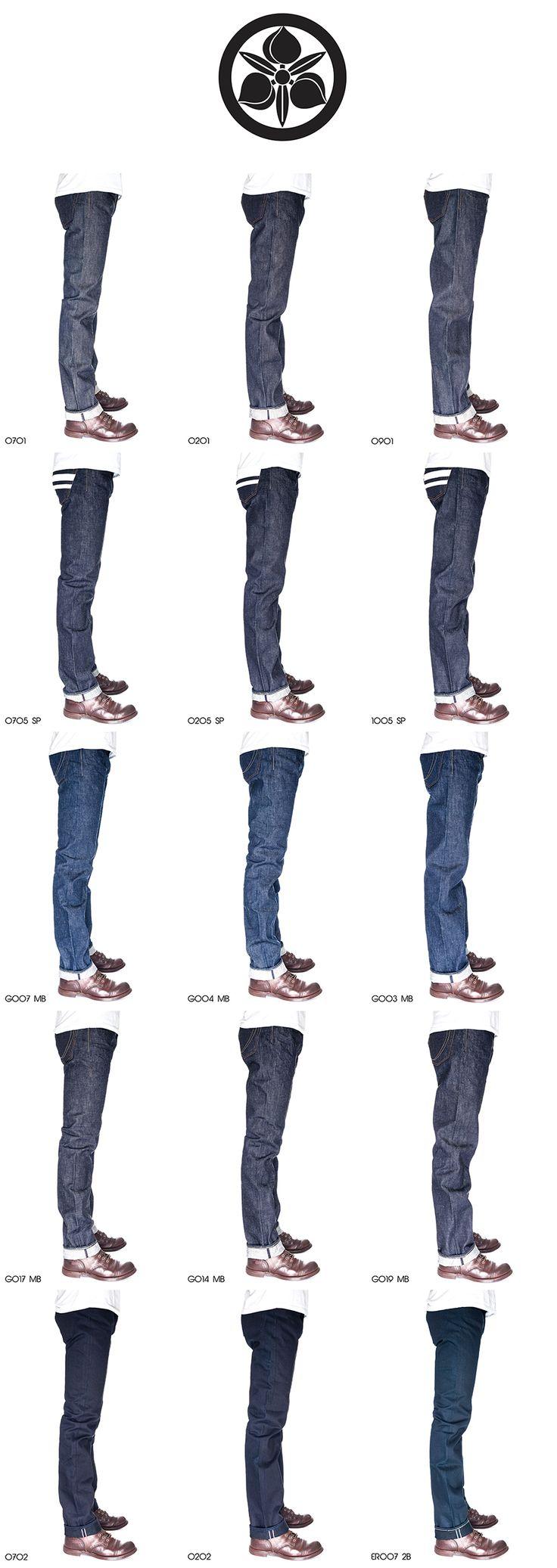Product Line Up - Momotaro Jeans, Handmade in Kojima, Okayama, Japan.