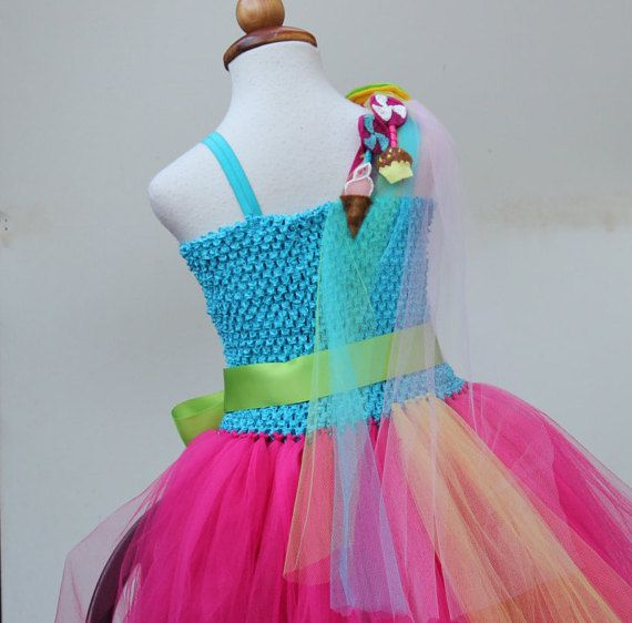 Turquoise Fuchsia dress Candyland Dress Candy by BloomsNBugs