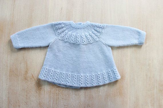 You can find all my patterns in English here : https://www.etsy.com/fr/shop/LittleFrenchKnits?section_id=15372772&ref=shopsection_leftnav_1  You can find all my patterns in French here : https://www.etsy.com/fr/shop/LittleFrenchKnits?section_id=15370495&ref=shopsection_leftnav_2  Blue Baby Jacket Instructions in English PDF Instant download Size Newborn - 3 months  Materials : 100 % Merino wool Fingering 4 ply - 50 g balls - 224 yards (205 meters) 2 Balls One pair each 2,75 mm (US 2 / UK 12)…