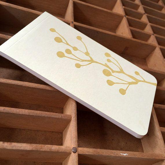 Rose Hips Letterpress Notebook Jotter