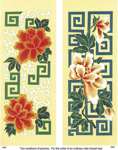 "https://flic.kr/p/5dafLt | Traditional Chinese Embroidery Designs 1 | This is a free download from dover.  from: <a href=""http://store.doverpublications.com/0486996042.html"" rel=""nofollow"">store.doverpublications.com/0486996042.html</a>  Authentic motifs from the finest Chinese textile patterns, Buddhist murals, and other artifacts depict mythical creatures, animals, landscapes, flowers, and other subjects. The 108 designs — 54 in full color and 54 of the same image in black-and-white — can…"