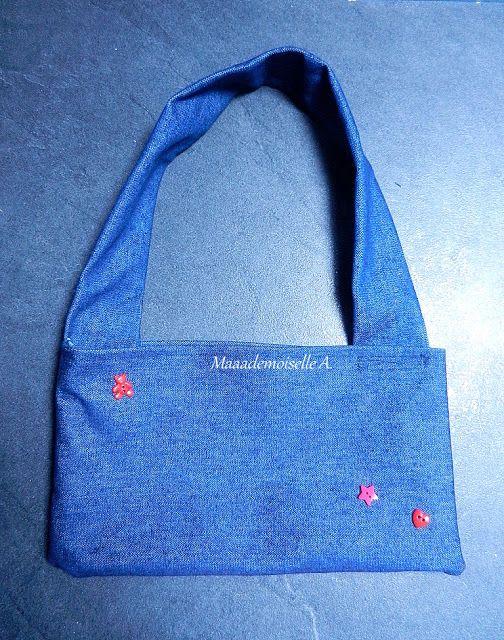 "DIY - Le ""kit"" de grande soeur (ou grand frère) - Mini tote bag en jean"