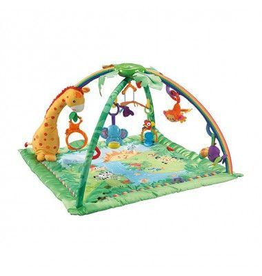 """Auf dieser tollen """"Rainforest"""" Krabbel- und Spieldecke von Fisher-Price wird Ihr Baby sich wohlfühlen! Statt 89,99€, bei uns nur für unschlagbare 45€ !"""