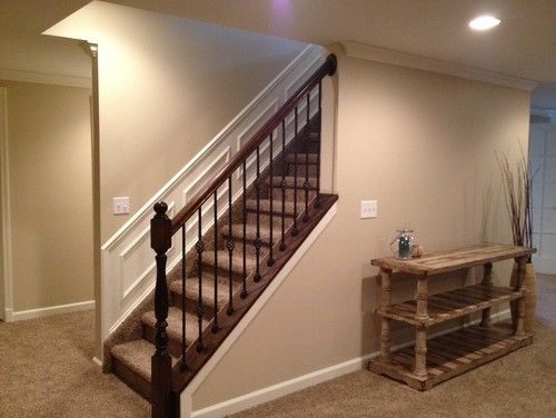 Novi Finished Basement   Traditional   Basement   Detroit   Majestic Home  Solutions LLC I Would Change The Last Spindel But This Is So Much Better  Than A ...