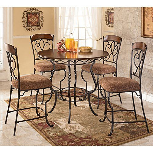 Nola 5 Piece Counter Height Dinette By Ashley Furniture Ashley Http://www .amazon.com/dp/B005MUWRHM/refu003dcm_sw_r_pi_dp_coo9ub0T9ATED | Kitchen |  Pinterest