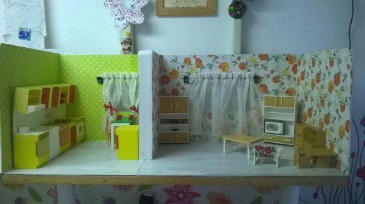 pokojíček pro panenky 80 léta - 1