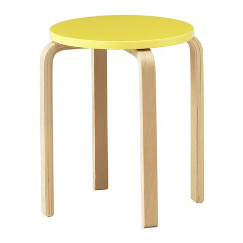 IKEA - FROSTA, Stool, The stool can be stacked, so you can keep several on hand and store them on the same space as one.
