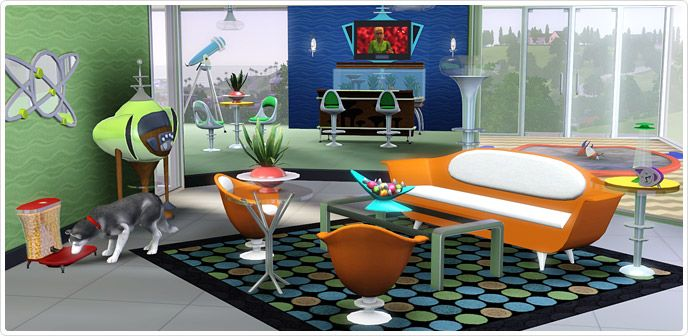 Atomic Age Living and Dining - Store - The Sims 3 | Conversion Wishlist |  Pinterest | Free sims and Sims