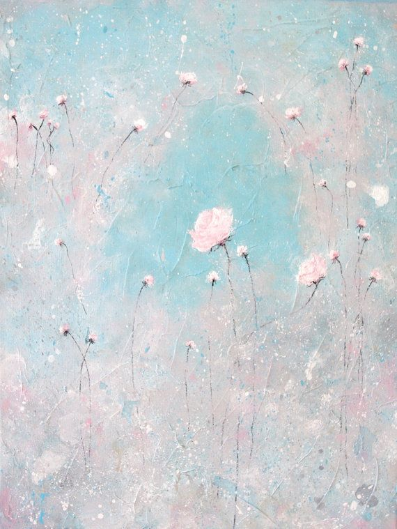 shabby chic floral painting nursery art by melissamaryjenkins, $60.00 inspired by laurence amelie