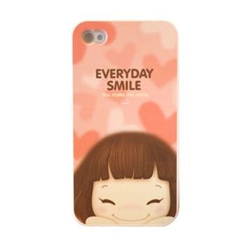 Sonriente Chica ShenaCases estuche protector para el iPhone 4