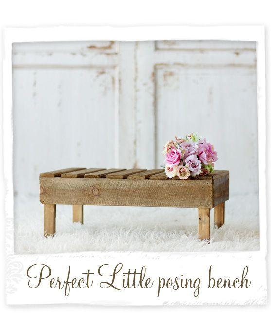 Perfect Little Newborn Posing Bench photography prop