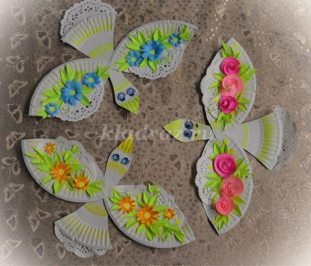Весенние птички из бумажных тарелок своими руками. Мастер - класс с пошаговыми фото