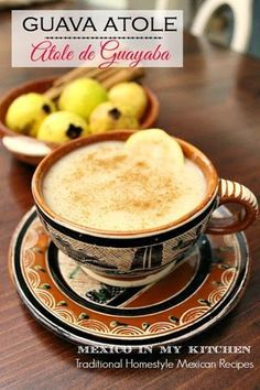 Guava Atole - Atole de Guayaba recipe, a creamy and sweet drink, great to keep you warm these cold winter nights. #mexicanrecipe #recetasmexicanas www.mexicoinmykitchen.com