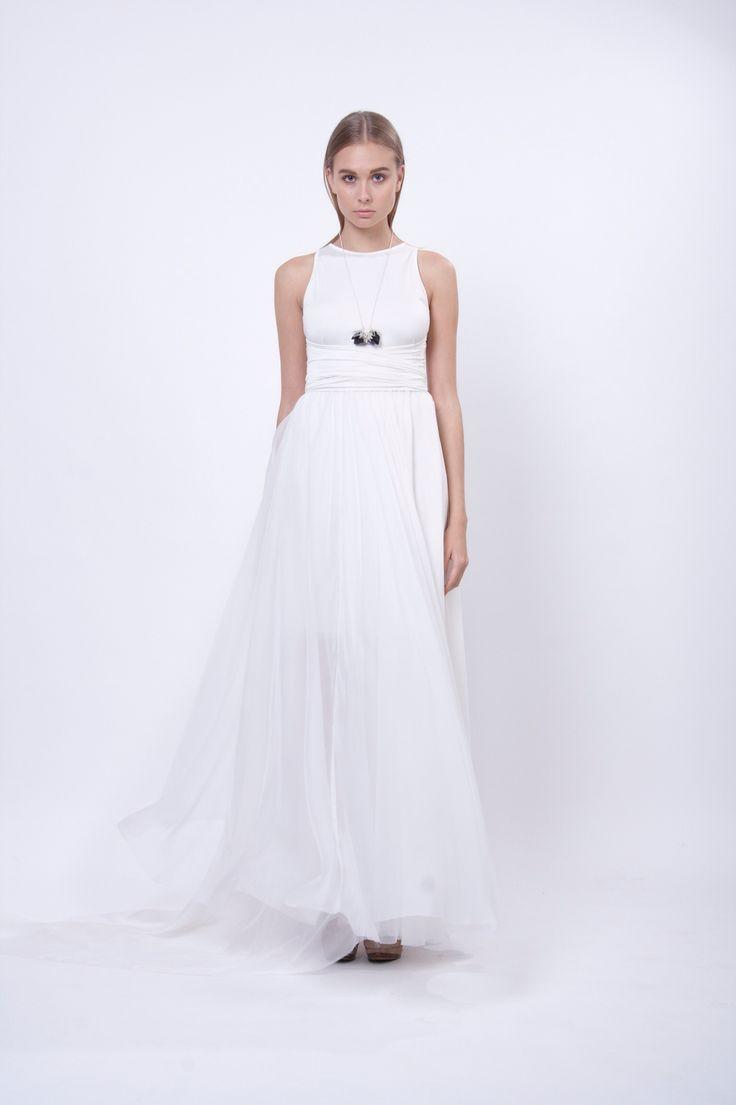 long silk dress, design Lucie Kutálková, LEEDA store