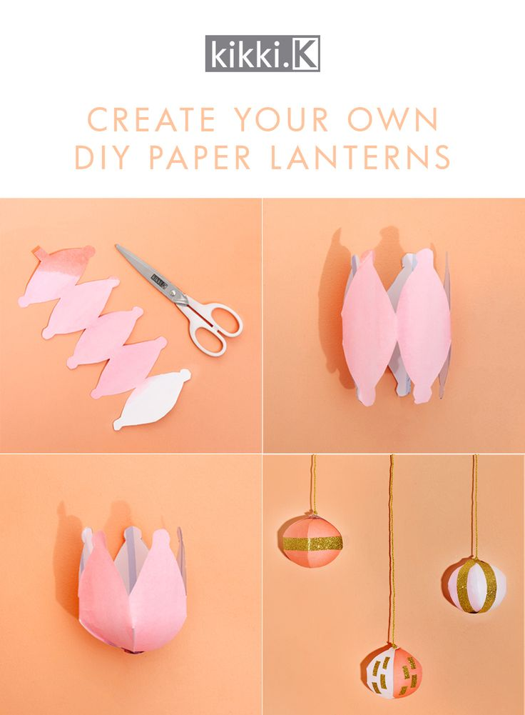Celebrate Chinese Mid Autumn Festival with these gorgeous downloadable DIY Paper Lanterns Template and how to