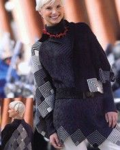 Mitre Vee Capelet design by Jane Slicer-Smith from 'Swing, Swagger, drape - knit the colors of Australia' publication 2009