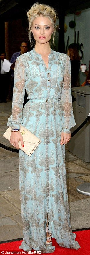 Formal: While others arrived in casual attire, Emma dressed up in her floor-length turquoise gown