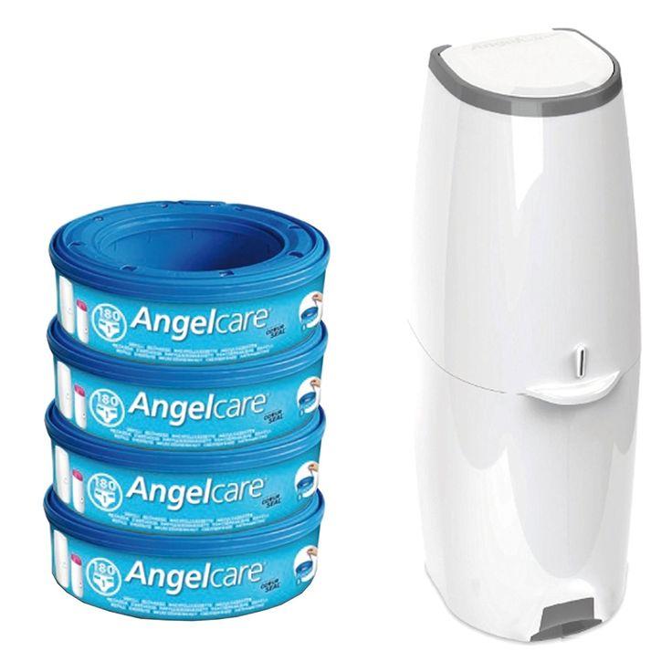 Angelcare Windeleimer Comfort Plus inkl. 4 Kassetten: Amazon.de: Baby