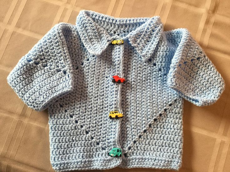A personal favorite from my Etsy shop https://www.etsy.com/ca/listing/509031994/boys-cardigan