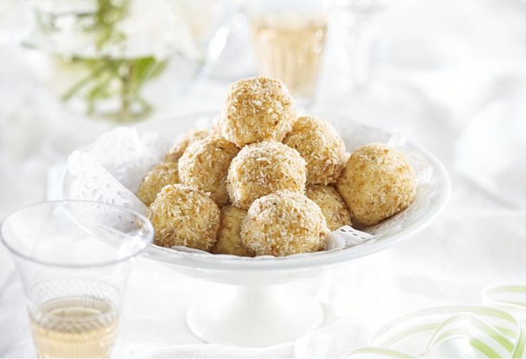 With the layered textures of coconut and almond, plus a hint of brandy, you'll have a ball with each bite.