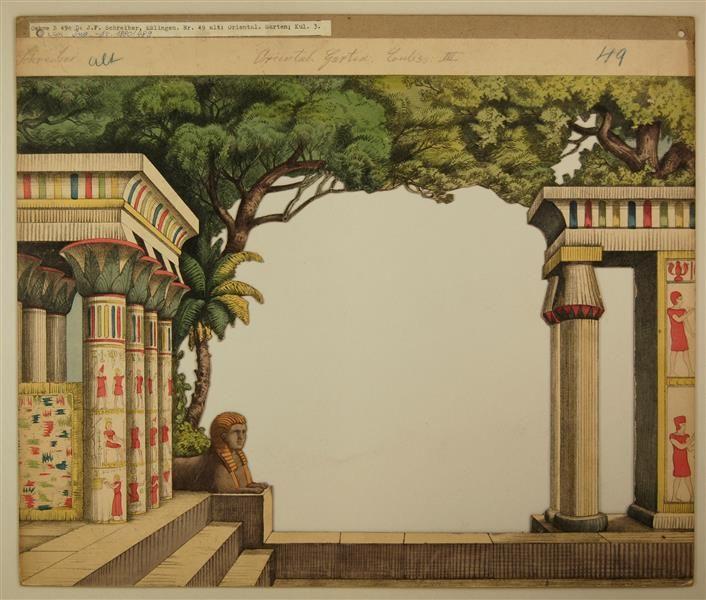 Schreiber: Orientalischer Garten - Kulisse 3, Nr. 49 (Alte Ausgabe, großes Format)