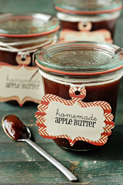 Homemade Apple Butter couldn't be easier. I tossed everything into the slow cooker, set the timer for 10 hours and went about my day.