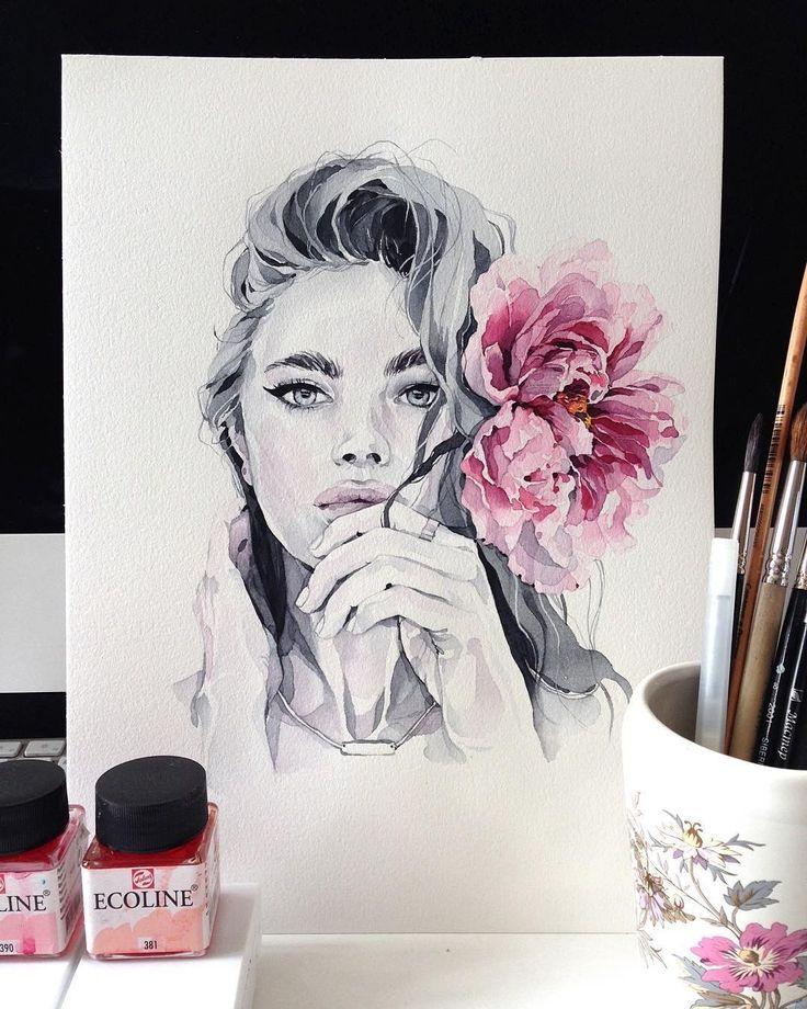 "laoy: "" ""  Watercolorist: @kadantsevanatalia #waterblog #color #акварель #art #paint #aquarelle #watercolor #drawing #painting  Watercolor blog, instagram.com "" """
