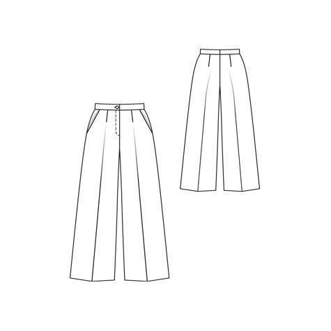 Bursa style wide leg pant pattern