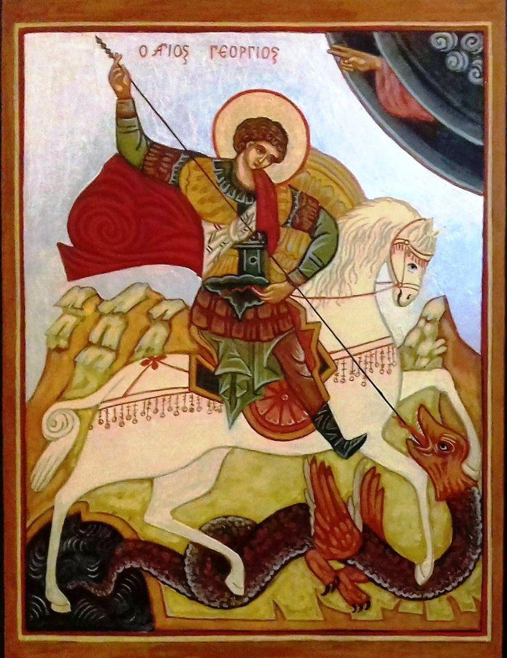 Szent György és a sárkány Oroszország XVI. század