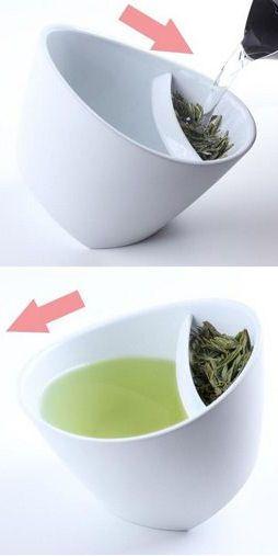 Add Loose Tea Leaves, Steep & Tilt to Drink ♥
