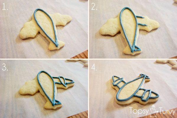 airplane-cookies-color-flow-method-outline by imtopsyturvy.com, via Flickr