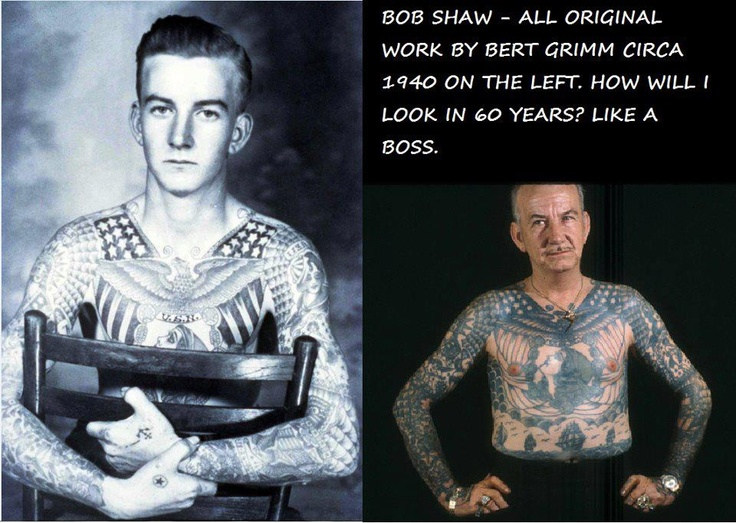 Bobshaw tattooed by artist bertgrimm since 1940 and for Tattoos when you get old